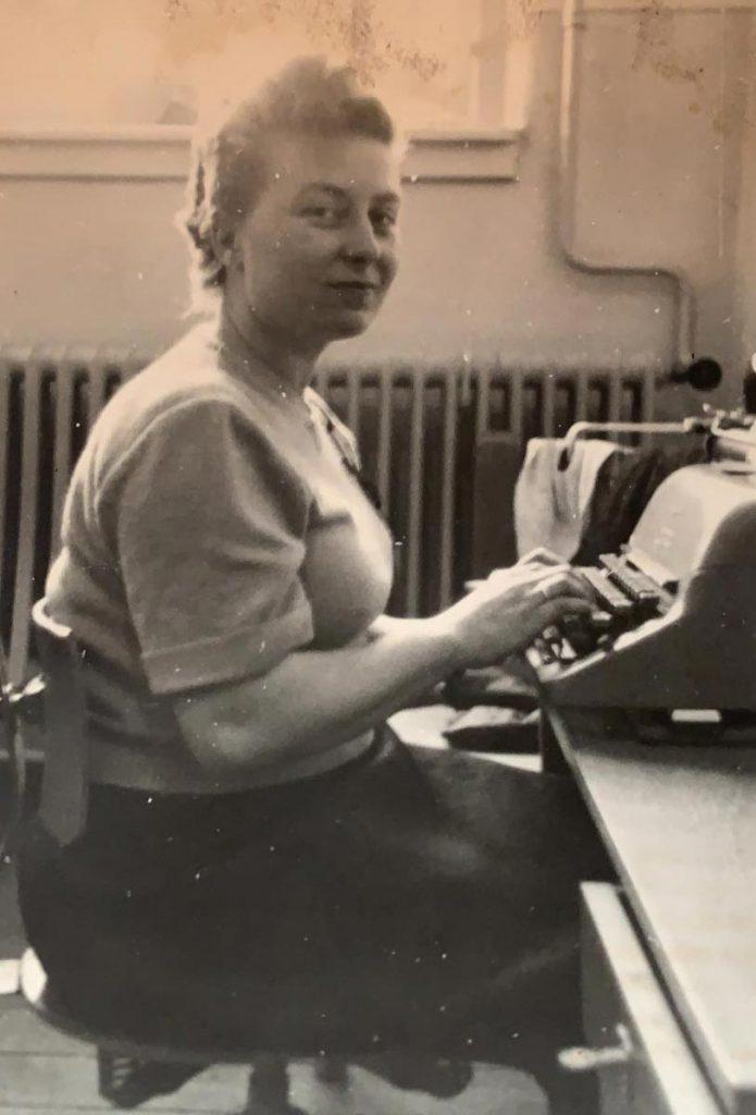 Als Stenotypistin war Erna Gabath sehr gut