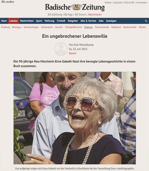 Zeitungsartikel Badische Zeitung